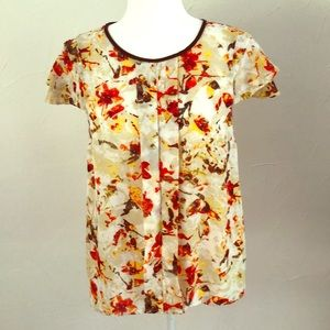 Kenzie Red, Yellow and Cream Blouse!